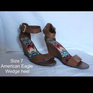 American Eagle wedge heel